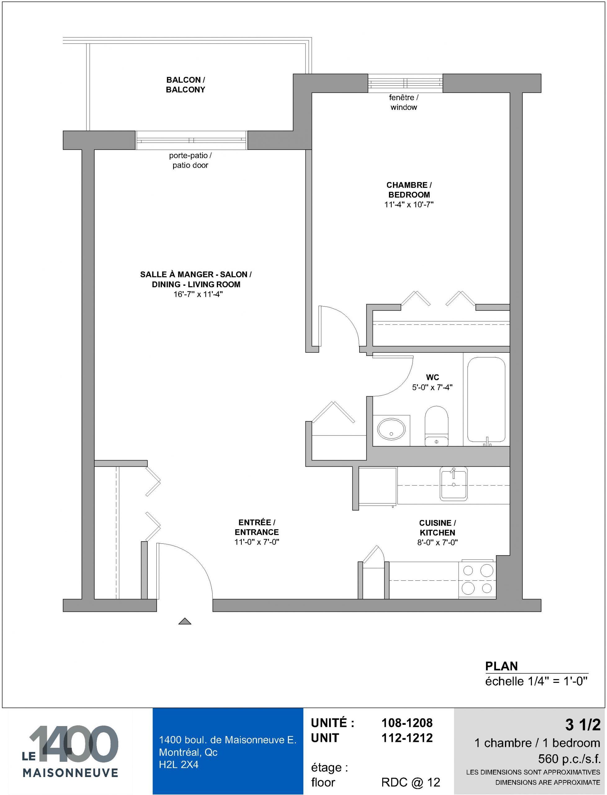 Appartement 108 | 3 1/2 Junior - Société d'Investissement ...